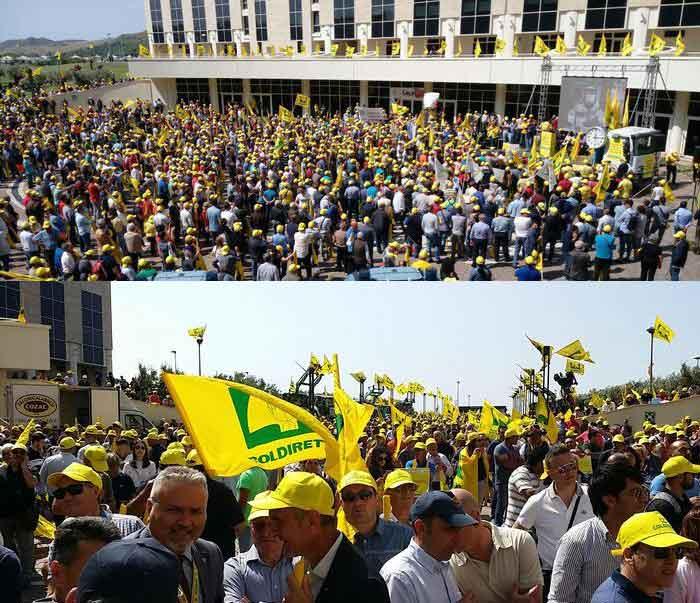 protesta Coldiretti alla cittadella regione Calabria