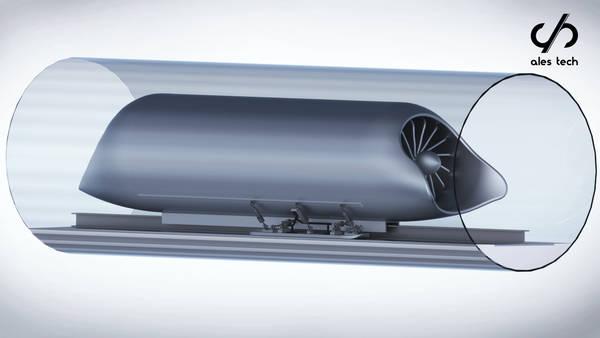 sospensioni treno Hyperloop