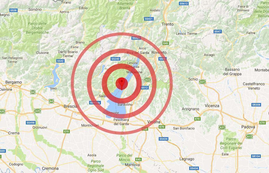terremoto San Zeno di Montagna Verona