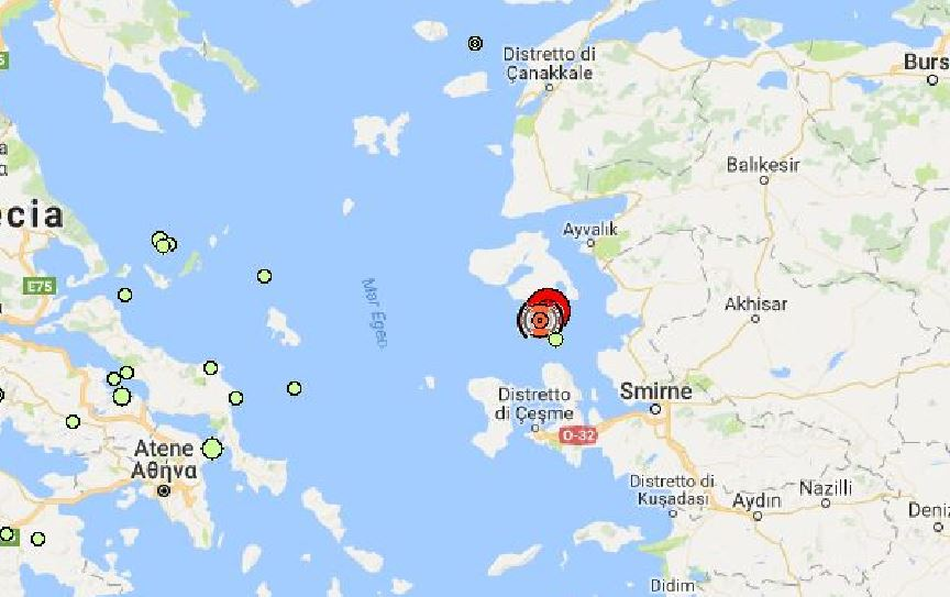 terremoto Turchia Grecia