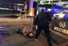 L'immagine scattata da Gabriele Sciotto a Borough Market, dopo la sparatoria tra polizia e terroristi
