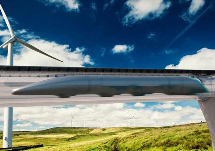 Il treno a levitazione magnetica Hyperloop