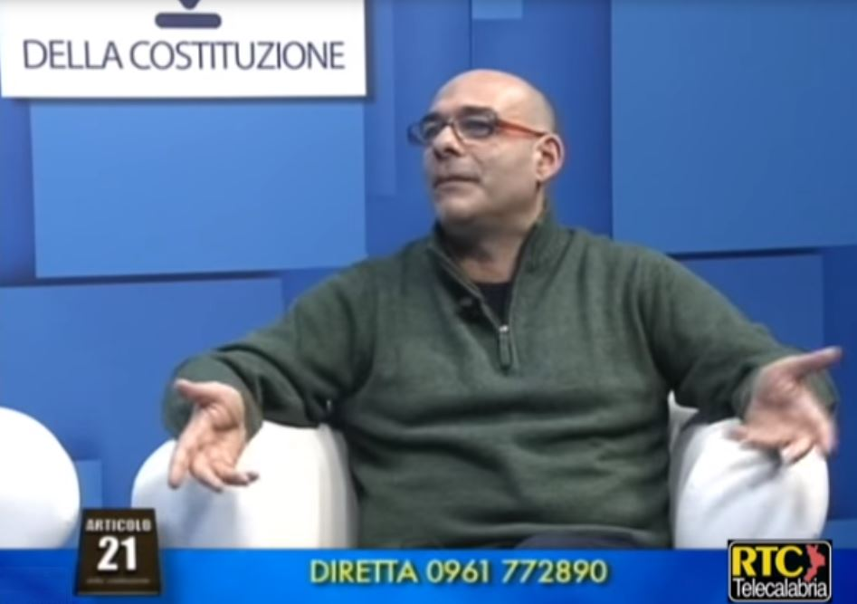 Gabriele Carchidi durante una intervista ad Articolo 21