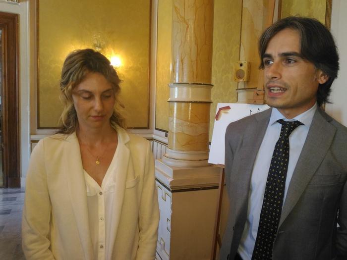 Il ministro Marianna Madia e il sindaco di Reggio Giuseppe Falcomatà