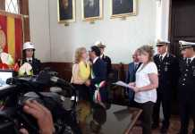 Il sindaco Abramo durante la proclamazione