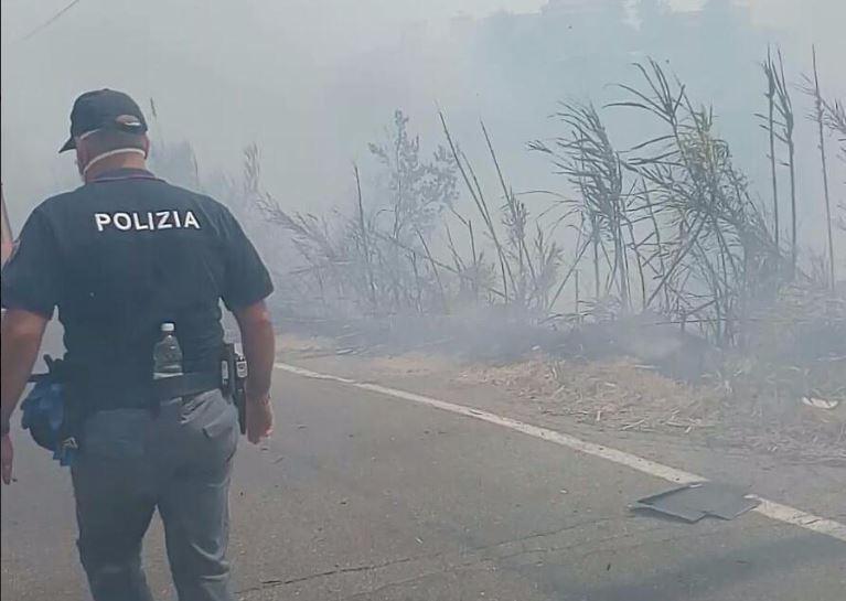 Due piromani denunciati dalla polizia nel Cosentino