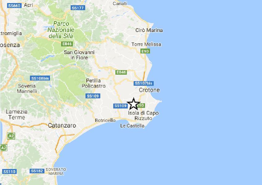 terremoto Isola Capo Rizzuto