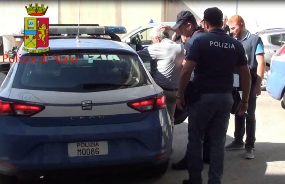Girolamo Ventrici durante il suo arresto