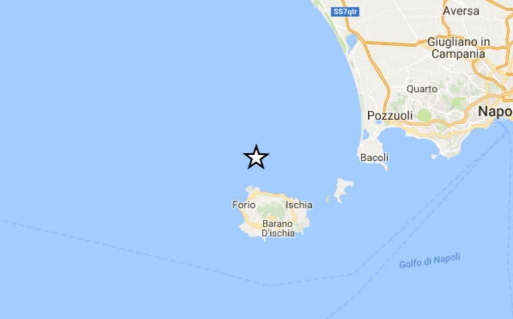 La nuova localizzaxione del terremoto a Ischia