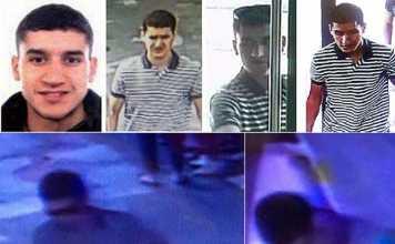In tutte le immagini Younes Abouyaaqoub ripreso dalle telecamere