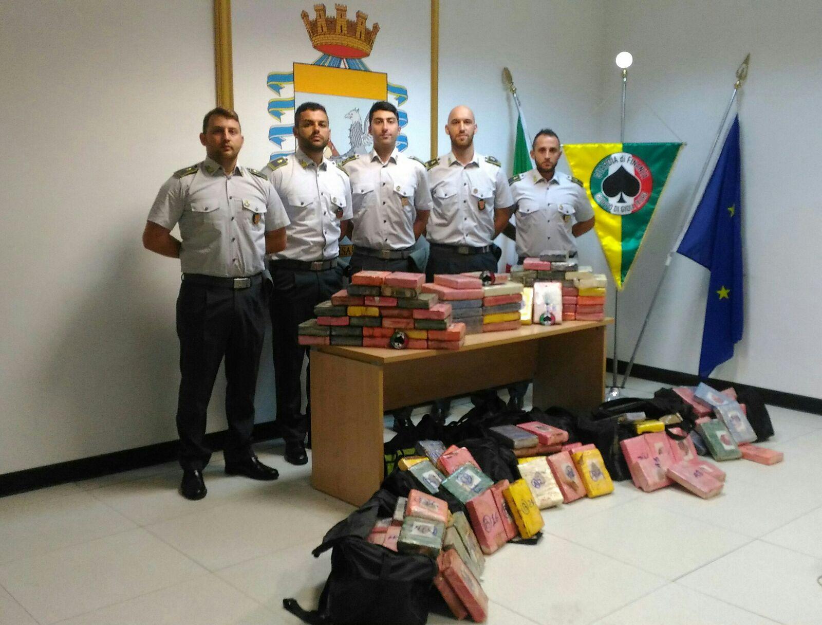 Reggio Calabria, sequestrati 220 kg coca