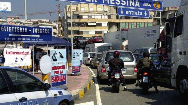 Villa San Giovanni (Rc) - Traffico intenso per il ferragosto