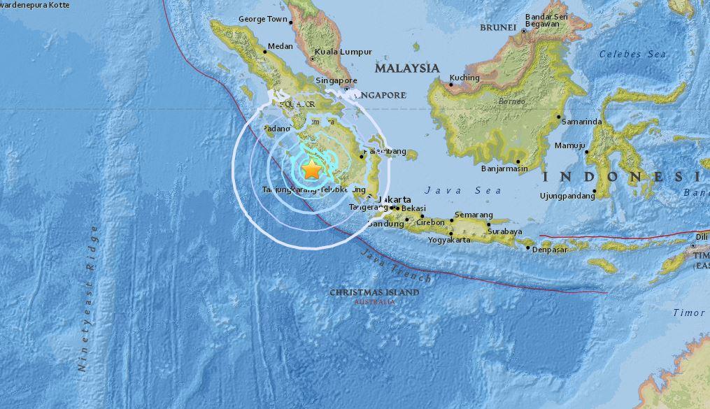 Forte terremoto lungo la costa di Sumatra: magnitudo superiore a 6
