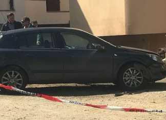 L'auto danneggiata dalla bomba Sorianello, grave Nicola Ciconte