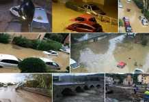Sequenza di immagini dell' alluvione a Livorno