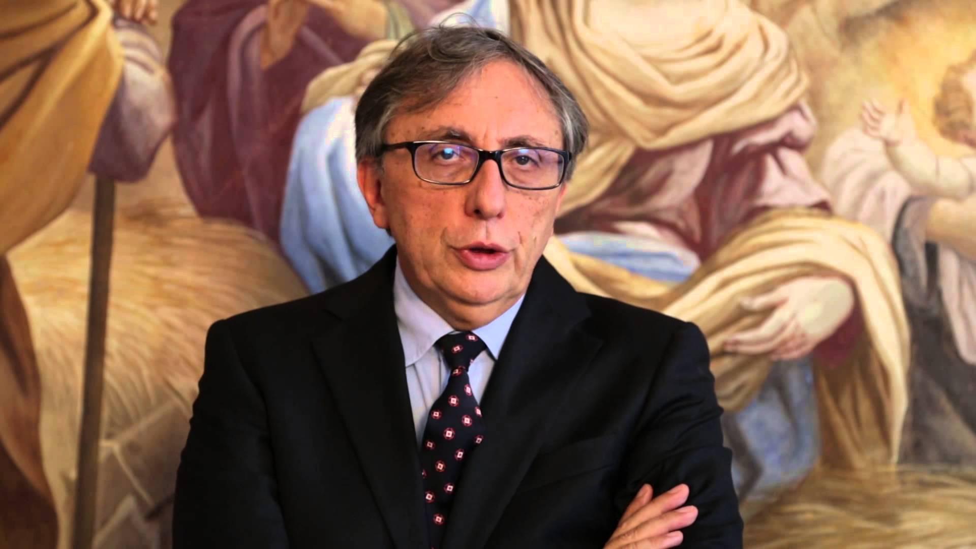 Il rettore dell'Università Suo Orsola Benincasa, Lucio D'Alessandro