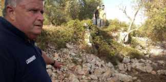 Il luogo del ritrovamento del cadavere di Noemi Durini