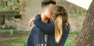 Noemi Durini bacia Lucio Marzo Fb