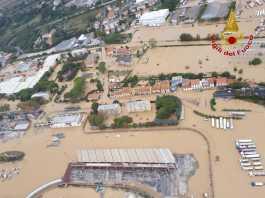 alluvione Livorno vista aerea
