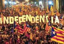 Manifestazione dei catalani pro referendum per l'indipendenza