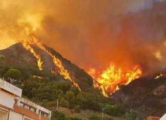 incendio Cosenza