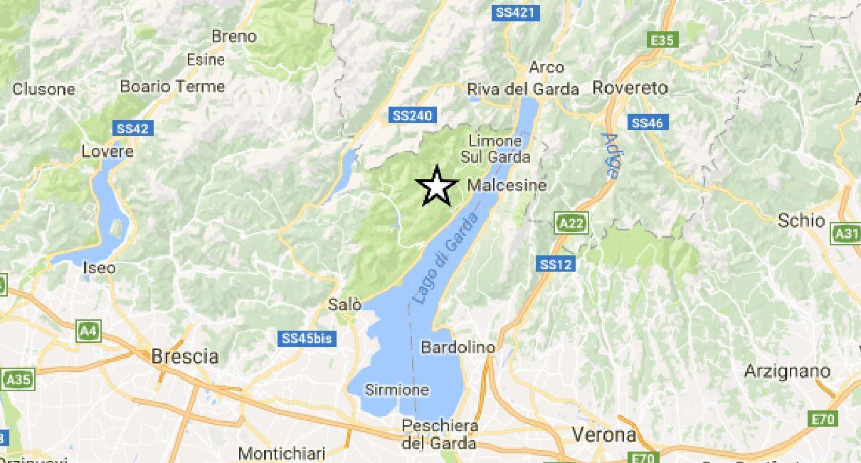 terremoto Tignale Lago di Garda