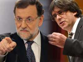 Mariano Rajoy e Carles Puigdemont