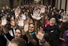 catalani in corteo Barcellona