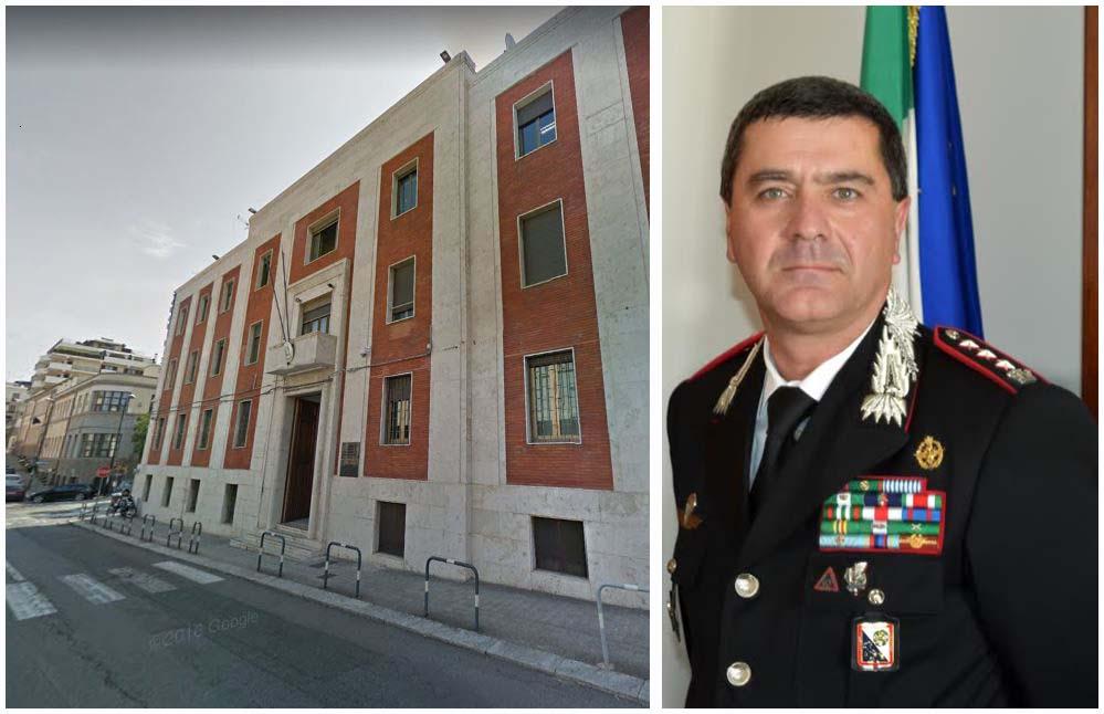 A destra il neo comandante provinciale dei Carabinieri di Reggio Calabria, colonnello Giuseppe Battaglia