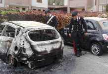incendio auto e personale carabinieri