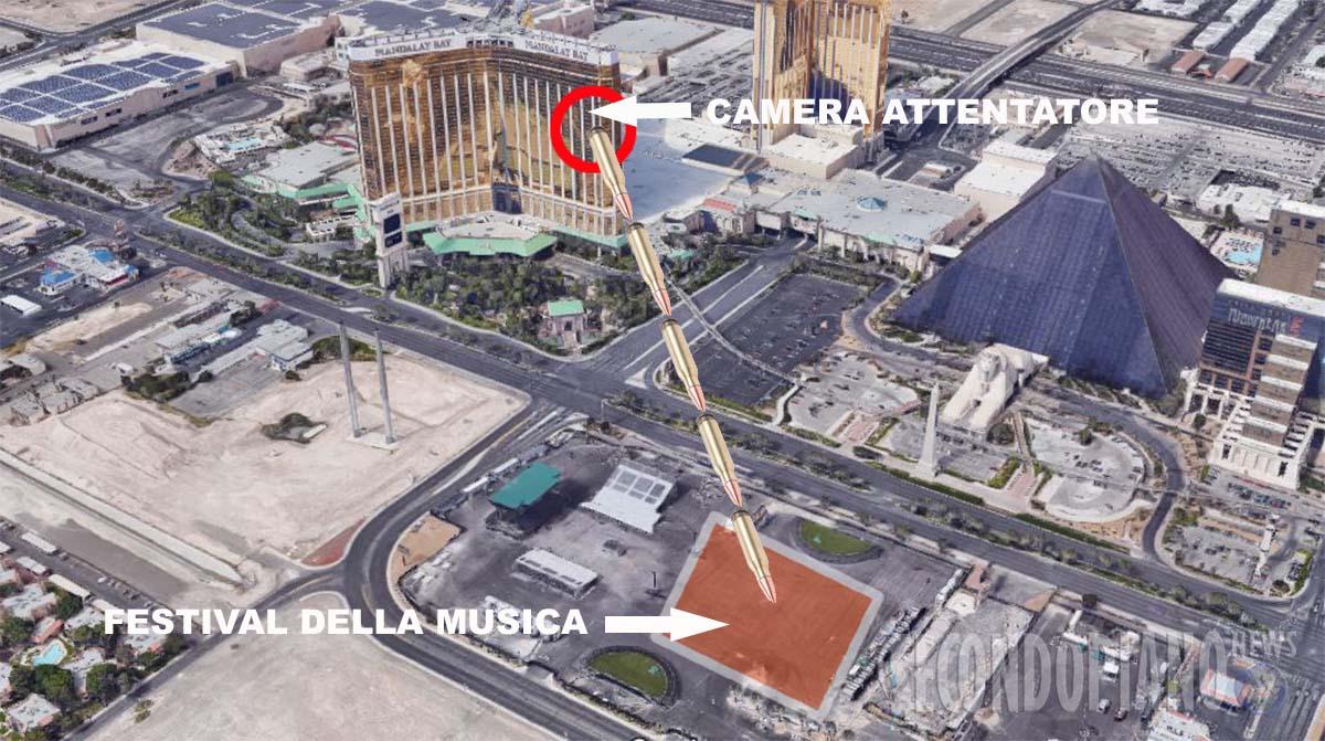 La ricostruzione dell'attentato a Las Vegas