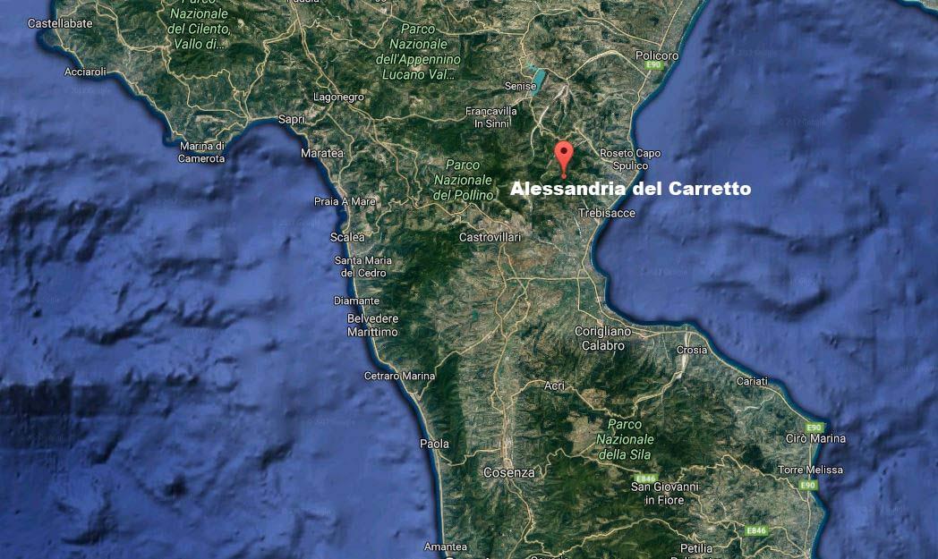 terremoto Alessandria del Carretto Albidona