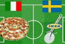 Una delle immagini a sfottò pubblicate sui social e ripresa dalla Bbc sull'eliminazione dell'Italia dai mondiali