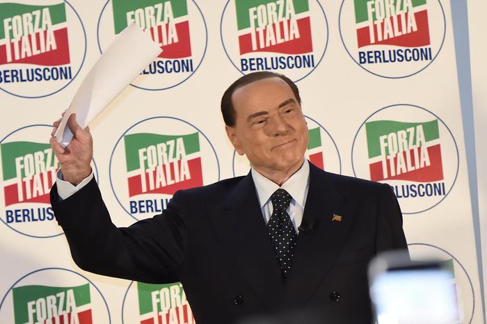 Silvio Berlusconi durante la Convention organizzata da Forza Italia Idee Italia