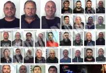 foto arrestati operazione Banco Nuovo tra Brancaleone, Africo e Melito Porto Salvo. In alto i fratelli Alati