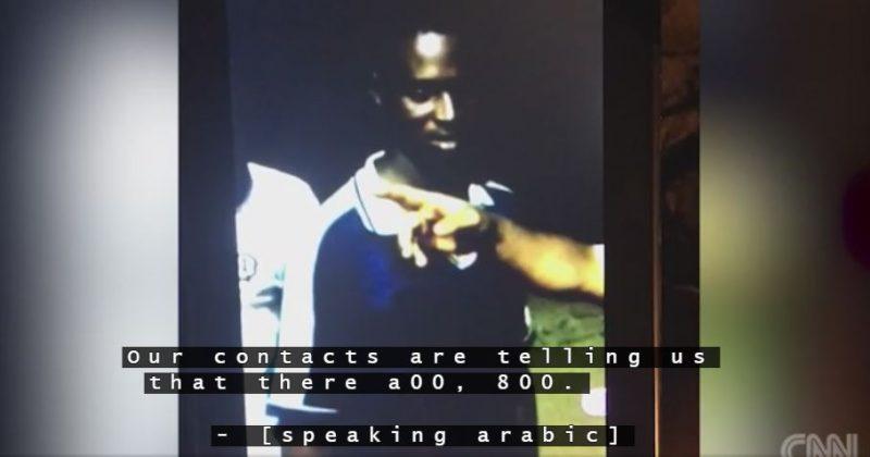 """Un frame del video della Cnn mostra la compravendita degli """"schiavi"""""""