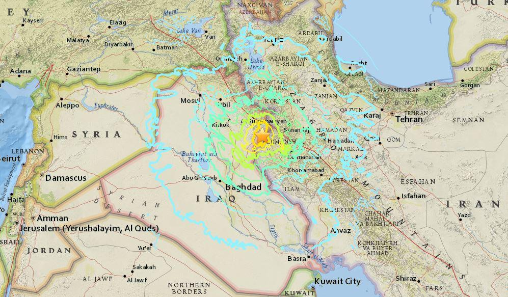 terremoto in Iraq e Iran