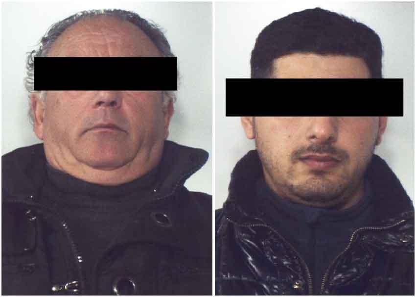 Da sinistra Antonio Pasquale Destefano e Giuseppe Di Leo ordigno bomba Nicotera