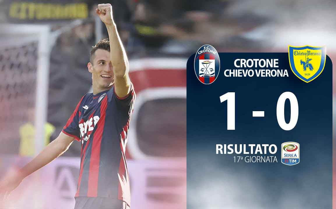 Budimir esulta dopo il gol in Crotone Chievo