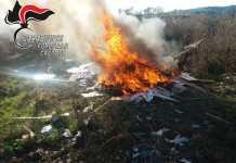 Combustione illecita rifiuti