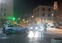 Controlli polizia Cosenza piazza bruzi