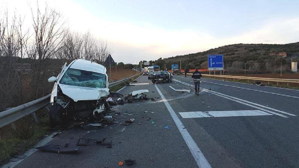 Il luogo dell'incidente stradale che è costato la vita all'ex ministro Altero Matteoli