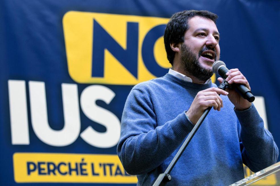 """Salvini a Roma: """"No Ius Soli. Lega è Davide contro Golia"""""""