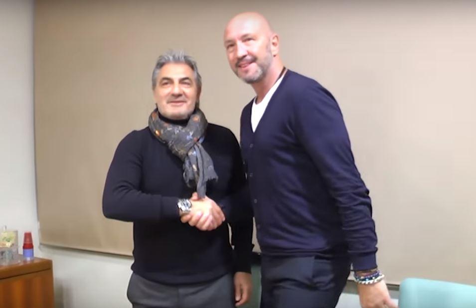 Walter Zenga e Gianni Vrenna prima della conferenza stampa di presentazione a Crotone