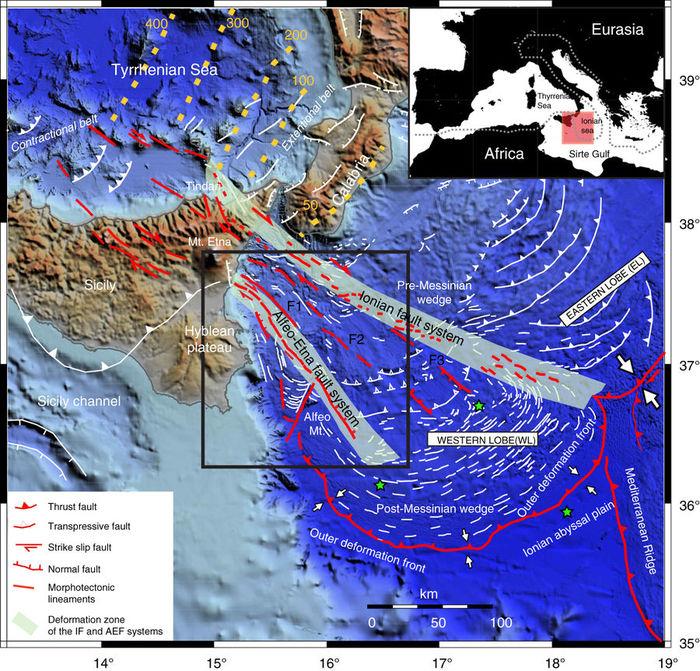 faglie terremoto mar Ionio