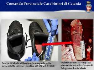 La soletta della scarpa del killer in casa delle sorelle Mogavero