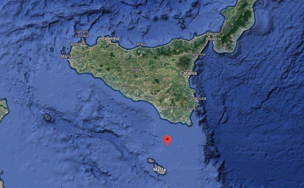 terremoto ragusa canale di sicilia