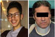 Da sinistra la vittima Giuseppe Parretta e Salvatore Gerace