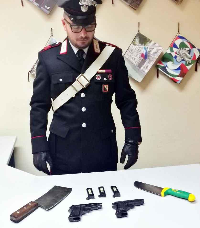 armi arrestati Antonino Megale, Giovanni De Carlo e Bruno Megale