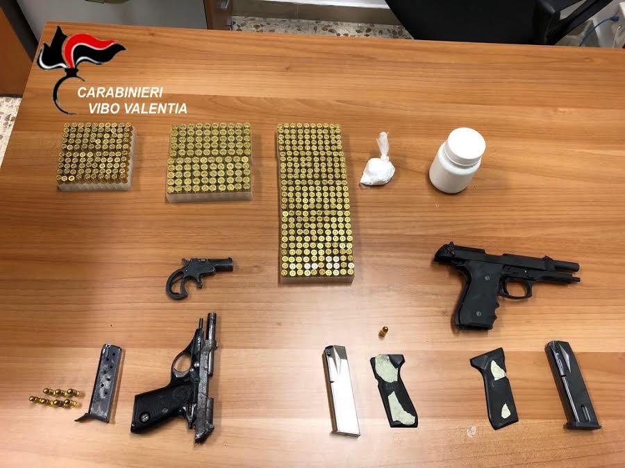 pistole munizioni vibo Michele Camillò